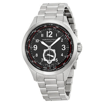 Hamilton Khaki Aviation Black Dial Stainless Steel Automatic Mens Watch