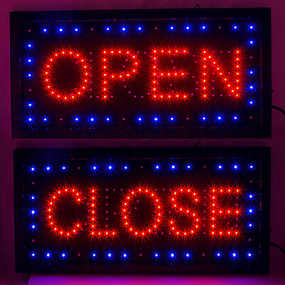 Bright Led Open Closed Store Shop Business Sign 9.818.9 Display Neon
