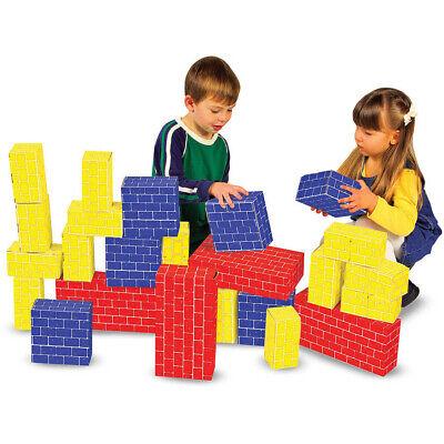 Melissa & Doug Deluxe Jumbo Cardboard Blocks (40pc) - New, Free - Melissa And Doug Cardboard Blocks