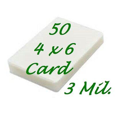 4 X 6 Laminating Laminator Pouches Sheets Sleeves 50 4-14 X 6-14 3 Mil Gloss