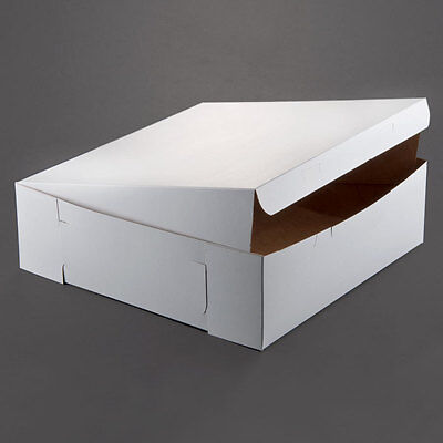 10 Count White 16x16x5 Bakery Or Cake Box