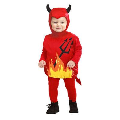 KINDER PUFFY TEUFEL KOSTÜM Satan Halloween Karneval Jungs  Mädchen 90-104 # - Satan Teufel Kostüm