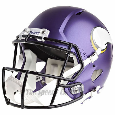 Viking Helmet Football (MINNESOTA VIKINGS RIDDELL SPEED NFL FULL SIZE REPLICA FOOTBALL)