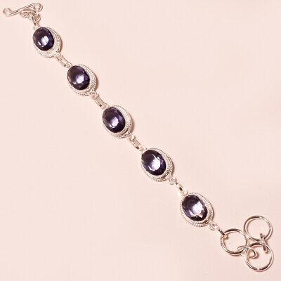 Alexandrite Quartz Faceted Handmade  Fashion Jewelry Bracelet 6