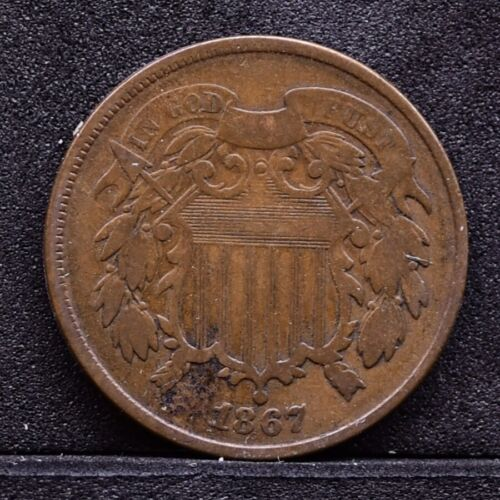 1867 Two Cent Piece - VG (#30961)