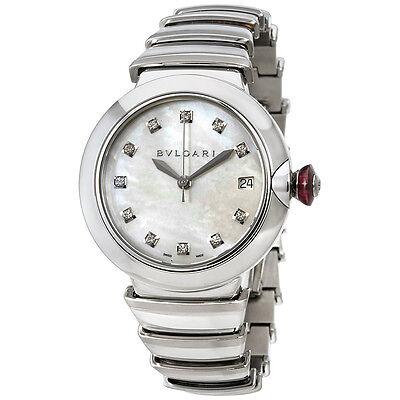 Bvlgari Lvcea  Automatic Mother of Pearl Diamond Ladies Watch 102382