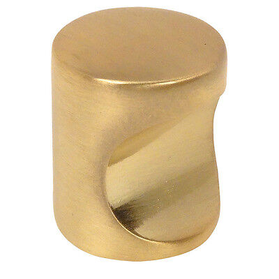 (Cosmas Cabinet Hardware Brushed Brass Contemporary Finger Pull #3312BB)