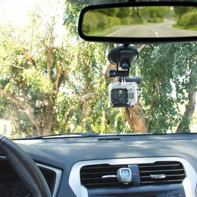 Swivel Car Suction Cup Mount Holder For Gopro HD Hero 1/ 2/ 3/4 Cameras SJ4000