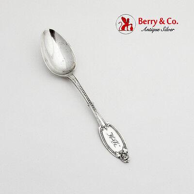 Pair Albert Coles Coin Silver Master Salt Spoons American 1835-1875