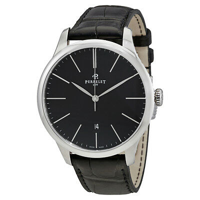 Perrelet First Class Automatic Black Dial Mens Watch A1073/2