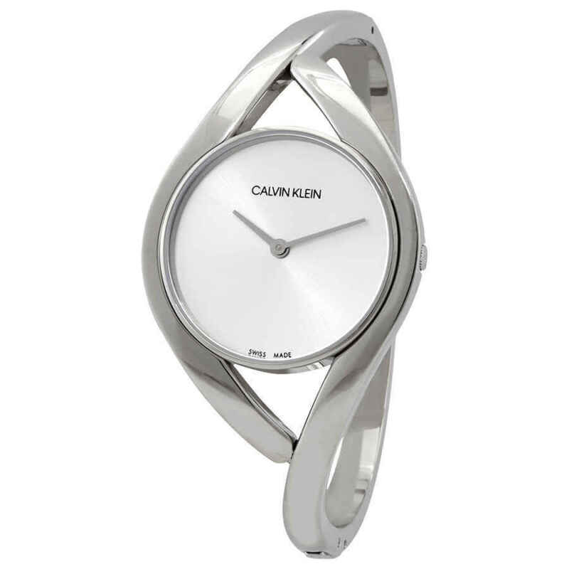 Calvin Klein Party Medium Silver Dial Bangle Ladies Watch K8U2M116