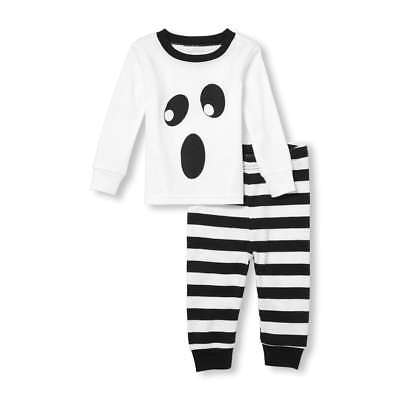 NWT The Childrens Place Ghost Glow in the Dark Halloween Pajamas Set 2T 3T 4T 5T