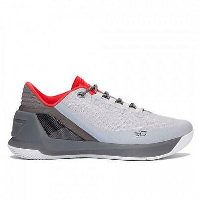 Mens UNDER ARMOUR UA CURRY 3 LOW Grey Trainers 1286376-289UK 10 US...