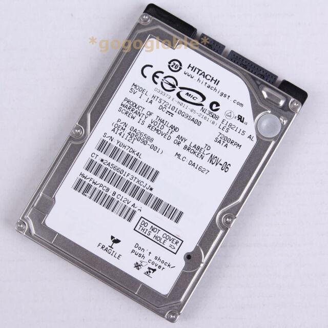 """OK Hitachi HTS721010G9SA00 100 GB 7200 RPM 2.5"""" SATA 8 MB HDD Hard Disk Drives"""