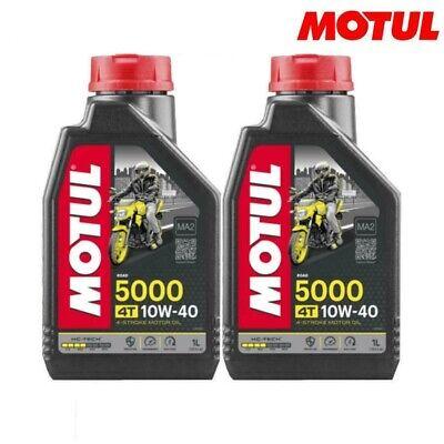 Olio Motore Moto Motul 5000 4T 10W40 10W-40 10W 40 2 litri MOTO SCOOTER 4TEMPI