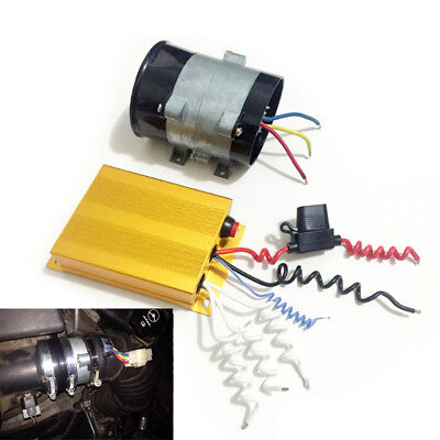 Universal 12V 16.5A Car Electric Turbine Turbo Charger Booster w/ Controller Box