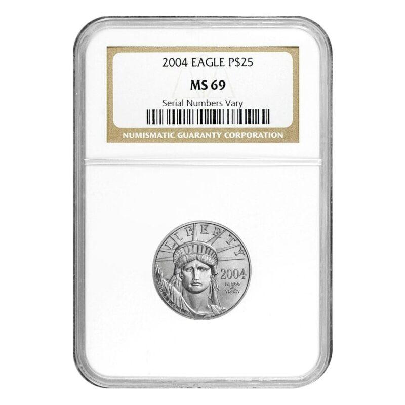 2004 1/4 oz $25 Platinum American Eagle NGC MS 69