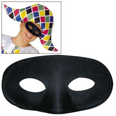 SCHWARZE KINDER MASKE # Kindermaske Bandit Räuber Zirkus Kostüm Augenmaske 63871