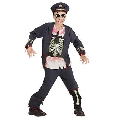ZOMBIE POLIZISTEN KOSTÜM KINDER Halloween Karneval Hut Jacke Hose Jungen # 0753