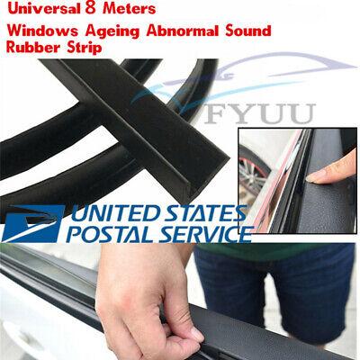 8M Universal V Type Car Door Glass Edge Window Rubber Seal Strip Weatherstrip X1