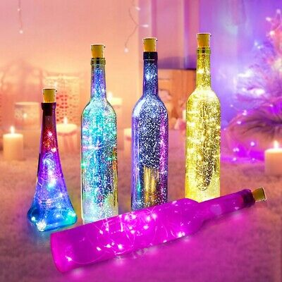 Battery Powered Garland Wine Bottle Lights 1M 10 LED Copper Wire Christmas Party