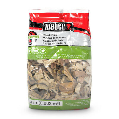 Weber Wood Chip (Weber Apple Wood Chips Fruity Smoke Flavor  2-lbs)