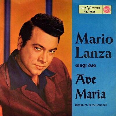 """7"""" MARIO LANZA singt das Ave Maria CONSTANTINE CALLINICOS RCA 1958 NEUWERTIG!"""