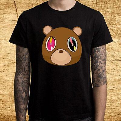 Kanye West Tour Graduation Bear Logo Men's Black T-Shirt Size S M L XL 2XL 3XL ()