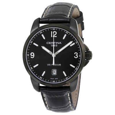 Certina DS Podium Black Dial Black Leather Men's Watch C0014101605702