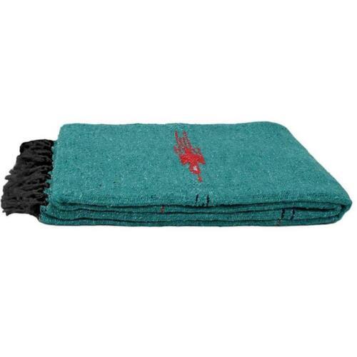 Turquoise Mexican  Blanket Thunderbird Yoga Native Tapestry Falsa Throw XL