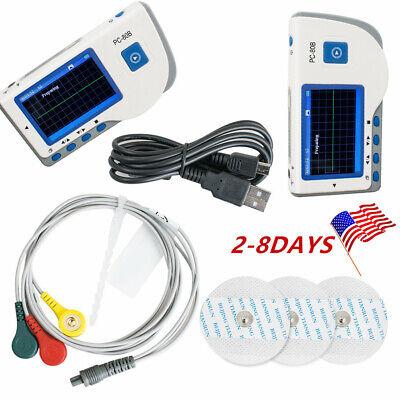 Best NEW PC-80B ECG HEART MONITOR EKG MACHINE  ADVANCED HANDHELD COLOR LCD SCREEN EASY CE