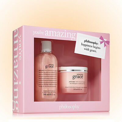 Grace Gift Set - Philosophy You're Amazing Gift Set-Gel+Creme-Amazing Grace Fragrance New Boxed