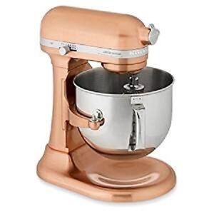 KitchenAid 7-Quart Super Capacity RKSM7581cp 7-Qt Bowl Lift Stand Mixer Copper