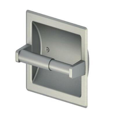Project Source Brushed Nickel  Recessed Spring-Loaded Toilet Paper Holder, NEW! ()
