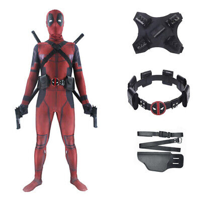 Deadpool Costume Mask Adult Kid Lycra Zentai Bodysuit Halloween Cosplay Suit - Halloween Deadpool Costume