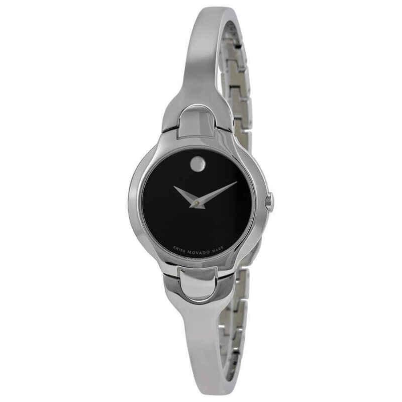 Movado Kara Black Dial Stainless Steel Ladies Watch 0605247