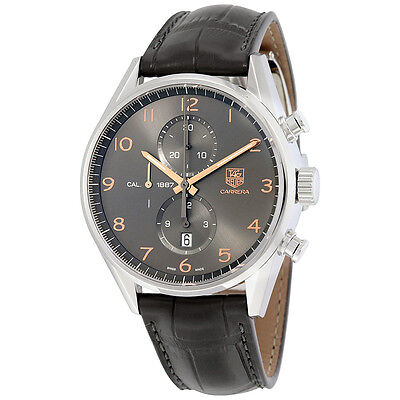 Tag Heuer Carrera Caliber 1887 Automatic Chronograph Anthracite Dial Mens Watch