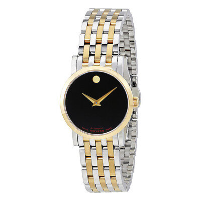Movado Red Label Automatic Black Dial Ladies Watch 0607011