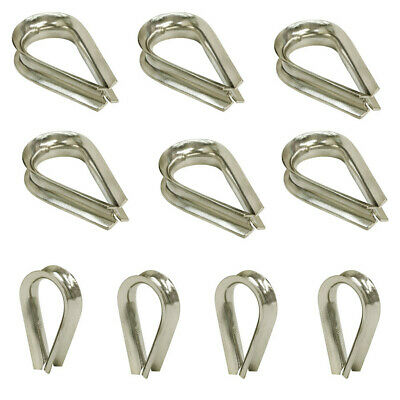 """10 PC 5/16"""" Stainless Steel Thimble Light Duty Rope Wire SS 316 Type Grade"""