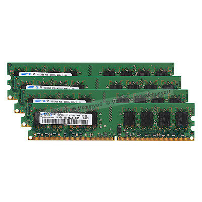 - 4GB 4X1GB PC2-5300 DDR2-667MHz 240pin For Dell Dimension E510 E520 E521 Memory