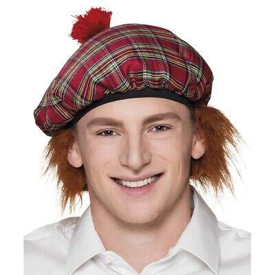SCHOTTEN MÜTZE mit HAAREN # Karneval Highlander Schottland Kostüm Perücke 81223