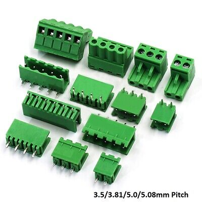 103.53.815.05.08mm Pitch Pcb Pluggable Terminal Block Screw Connector 2p-16p