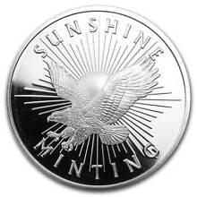 Sunshine Mint 1 oz .999 Silver Rounds (Mint Condition) Prospect Prospect Area Preview