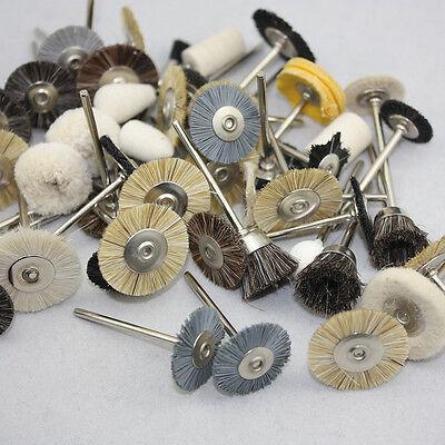 2.35mm Dental Lab Assorted Brushes Polishing Wheels For Rotary Tools 50 Pcs