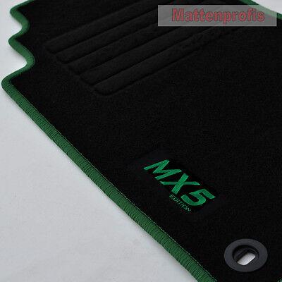 Kofferraum-matte für Mazda MX-5 II NB Bj. 1998-2005 Premium Velours Anthrazit