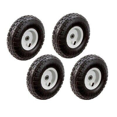 Hand Truck Garden Cart Gorilla 10 in Wheels Tires Replacement Hand, 4 Pack
