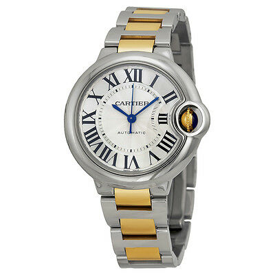 Cartier Ballon Bleu Automatic Silver Dial Ladies Watch W2BB0002