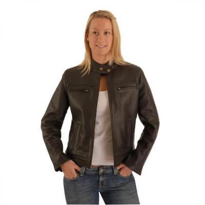 Damen leder jacke motorrad style biker fashion OSX Vespa 163
