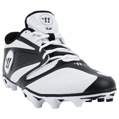779482cac Warrior Burn 7.0 Low Lacrosse Cleats - White Black-US SIZE 10