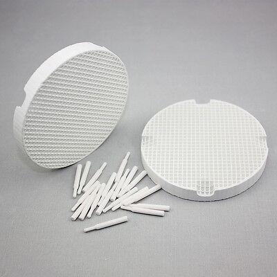 2 Pcs Dental Lab Honeycomb Firing Trays 20 Zirconia Pins Dentist Lab Products